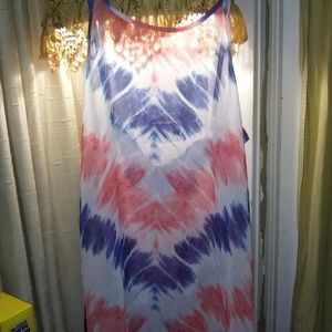 OP Intimates & Sleepwear - OP Long Camo Red/Wt/Blue Tie dye Sz Sm